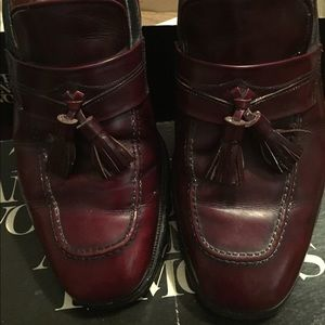 Allen Edmonds Other - Allen Edmonds Burgundy Leather Loafer Slip Ons: 9M