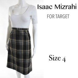 SALEISAAC MIZRAHI Target Plaid Pencil Skirt 4