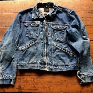 Authentic Original Vintage Style Jackets & Blazers - Vintage Wrangler jean jacket