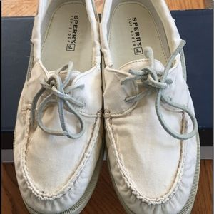 Sperry Top-Sider Shoes - 2-eye washed ivory 8 1/2 sperry.