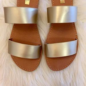 ShopBossyJocey Shoes - 🆕 Metallic Matte Gold Slide