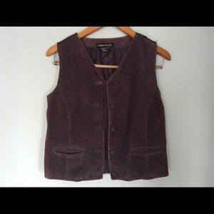 American Vintage Jackets & Blazers - Vintage leather purple vest