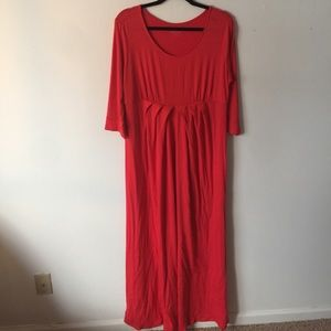 Merona orange/red maxi dress.