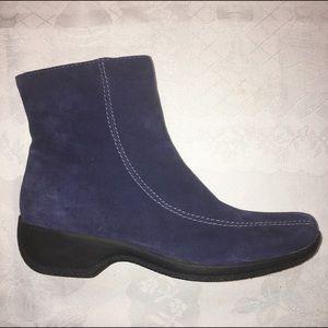 Clarks Shoes - Clarks Ashlyn Water Resistant Suede Side Zip Ankle