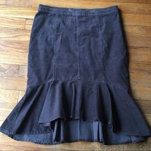 Pilcro and the Letter Press Corduroy Mermaid Skirt