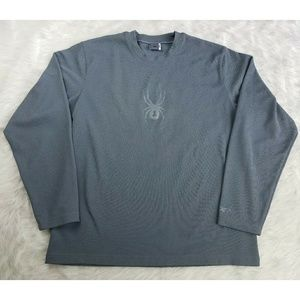 Spyder Other - Mens Spyder Gray Thermal Long Sleeve Shirt