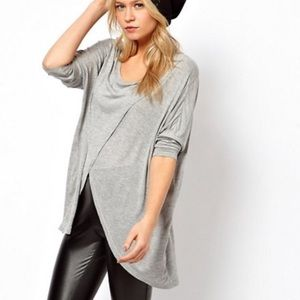 ASOS asymmetrical long sleeve top
