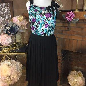 Sharagano  Dresses & Skirts - Sharagano black pleated skirt and top