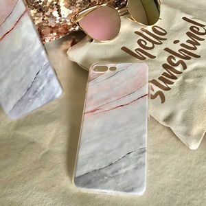 "Accessories - ✨New! ""Marble Me"" iPhone Case (Pink/Gray)"