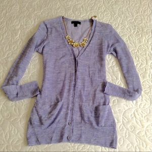 J. Crew Sweaters - J.Crew Lavender Cardigan