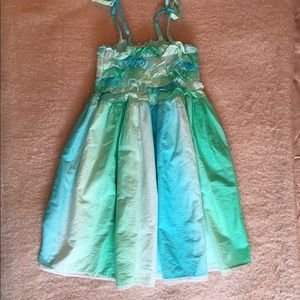 Halabaloo Other - Chasing Fireflies Halabaloo Green Blue Smock Dress