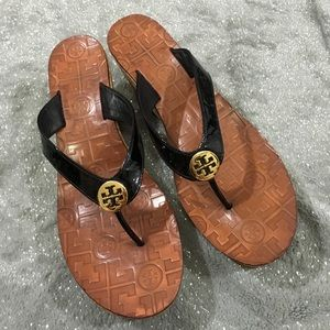 Tory Burch Shoes - Tory Burch thora cork wedge flip flop sandals