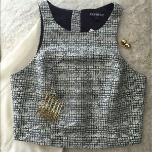 Express Structured Cropped Dressy Top