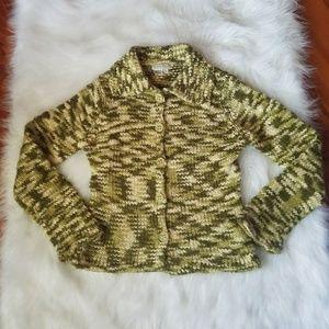 Royal Robbins Sweaters - Royal Robbins Green Knit Button Down Sweater