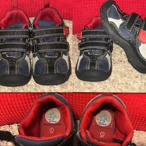 Carter's Blue, Red & Grey Sneakers .  Size 7
