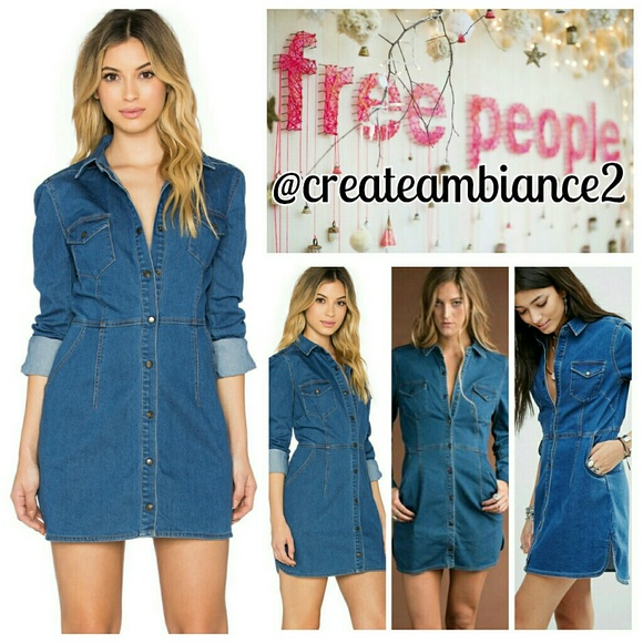 9a66371fff Free People Dynomite Denim Mini Dress