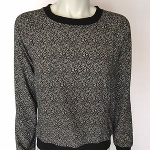 Lou & Grey Tops - {lou & grey} black and white patterned blouse