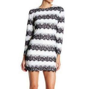 NSR Dresses & Skirts - NSR NAPEAN SEA RD Long Sleeve Striped Lace Dress