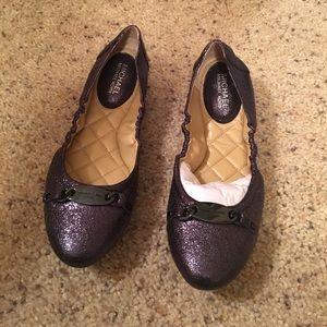 Michael Kors Shoes - NWT Michael Korea Joyce Metallic Flats