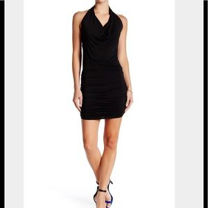 NEW GO COUTURE Medium LBD Open Back Black Dress