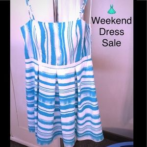Isabel & Nina Dresses & Skirts - SALE Designer Blue & White Sundress, EUC, 12