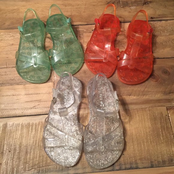 74993b50dc38 3 pair bundle-Old Navy Ankle Strap Jelly Sandals. M 58f95c39b4188eb441034005