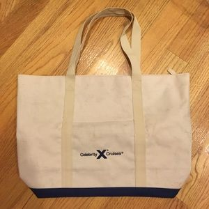 Celebrity cruises tote bag with zipper closure