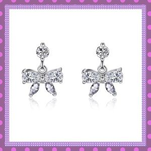 Boutique Jewelry - 🎀Natural Cubic Zirconium Bow Stud Earrings🎀