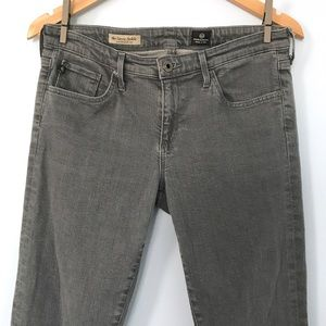 AG Adriano Goldschmied Stevie Ankle Gray Jeans