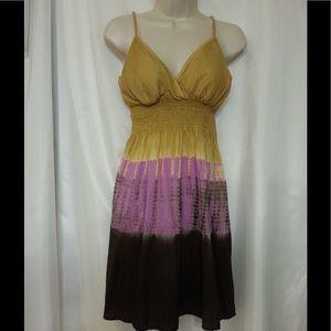 Multicolor Tye Dye Sun Dress