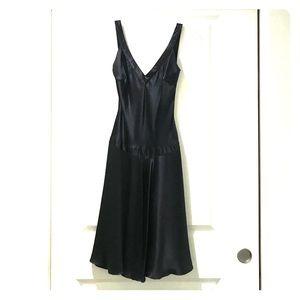 Black Open Cross-Back Cocktail Dress