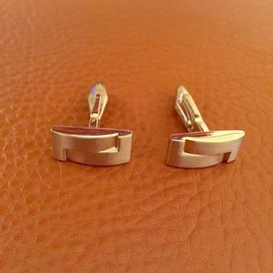 Modern Art Deco cuff links.