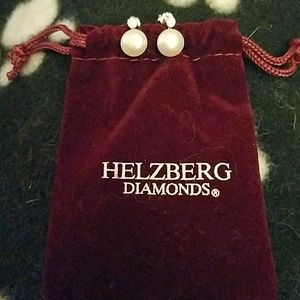 Jewelry - Pearl Earrings with small gems from Helzberg