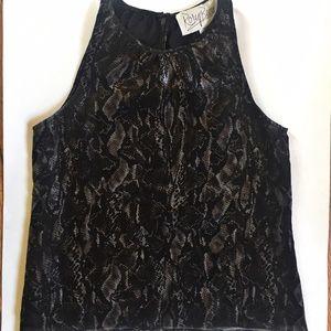 Rory Beca Tops - Rory Beca black snakeskin silk top