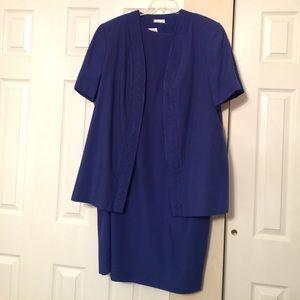 Leslie Fay Dresses & Skirts - Royal blue short sleeve career dress with jacket