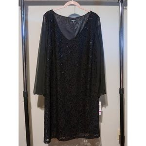 Onyx Dresses & Skirts - Plus size lace dress with pleated bell sleeves