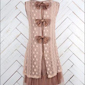 Altar'd State Dresses & Skirts - Altara state brown bow dress !!!