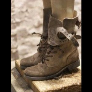 All Saints Shoes - ALL SAINTS Damisi Rare Stone Military Combat Boots