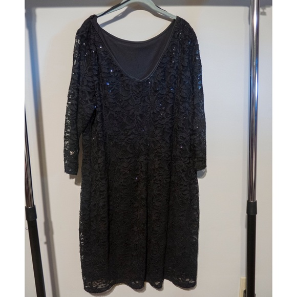 Onyx Dresses Elegant Black Lace And Sequin Plus Size Dress Poshmark