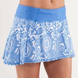 Lululemon Run in the Sun Skirt Beachy Floral blue