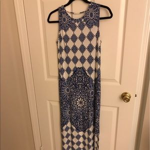 Maxi dress with double slits