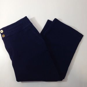 Lauren Ralph Lauren Pants - Lauren by Ralph Lauren Gold Button Navy Capris Sz8