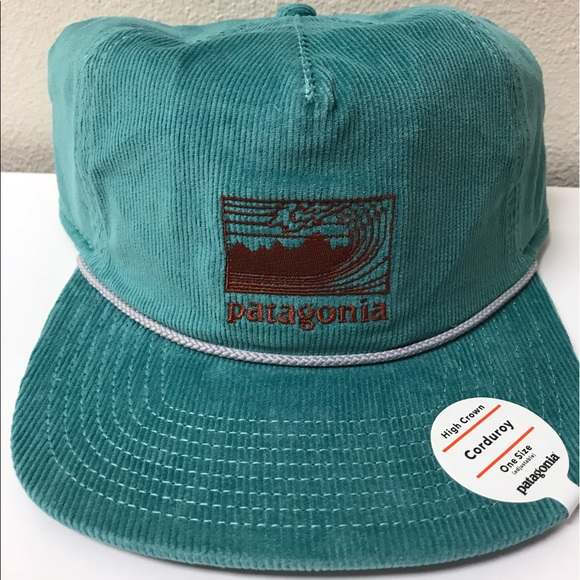 67e04ae3f78 New Patagonia Framed Fitz Roy Corduroy Hat Blue