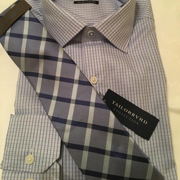 32599e8528 Tailorbyrd Shirts | Light Blue Mens Shirt Tie Combo | Poshmark