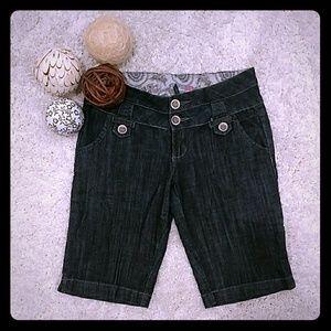 Long denim shorts Junior's size 5
