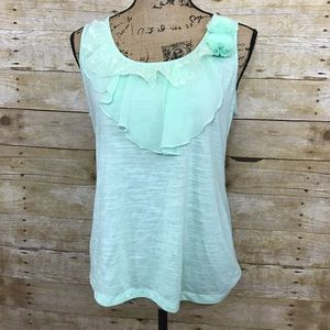 AB Studio Tops - Make any offer! Mint Lace Top