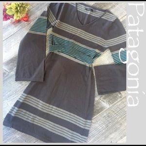 Striped Prana midi dress