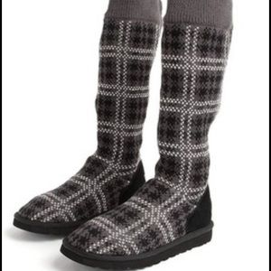 UGG Shoes - UGG Plaid Knit Boots