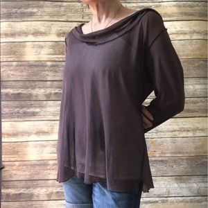 Soft Surroundings Tops - Sheer Long Sleeve Top/Cover Up Taupe - XL