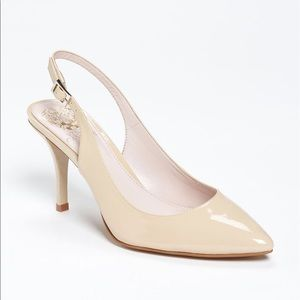 Vince Camuto Shoes - Vince Camuto Stefania Nude Pointed Toe Slingbacks